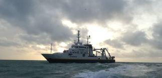 L'équipe du FROM Nord à bord de La Thalassa pour IBTS